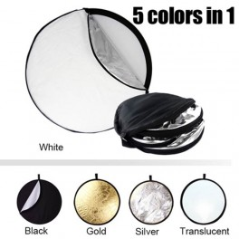 5-in-1 Collapsible Reflector Disc 80cm