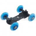 Blue Wheel Dolly Slider Skater
