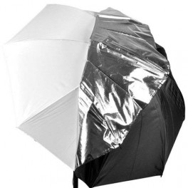 """Payung White with Removable Silver-Black Cover 33"""""""