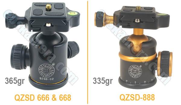 BallHead Beike QZSD-666 VS QZSD-668